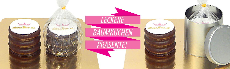 Baumkuchen mit Logo in Tüte oder Dose