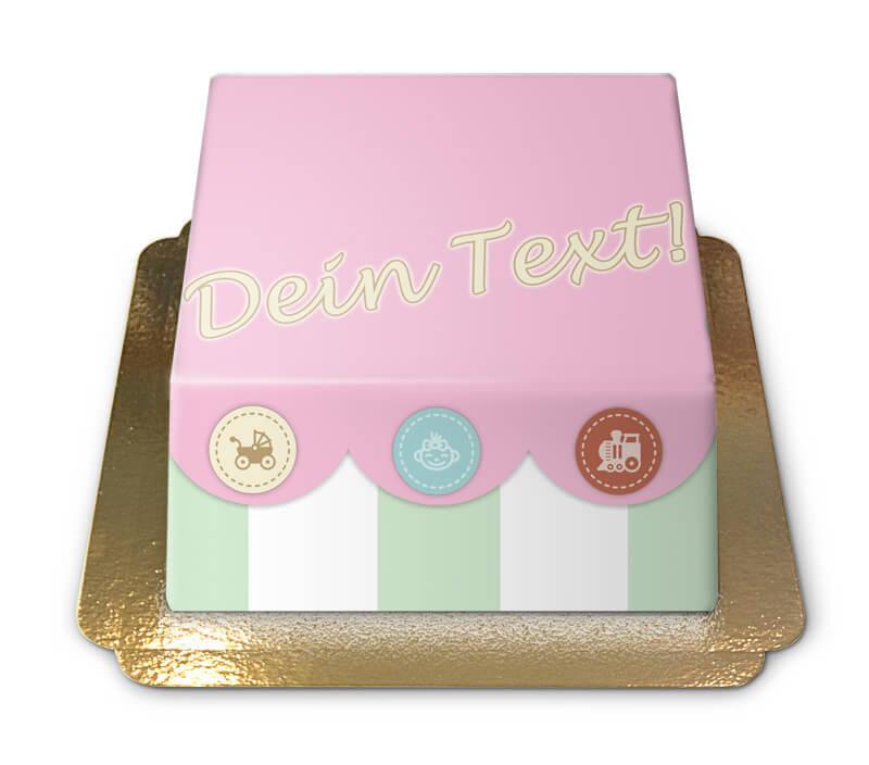 Baby Spielzeugtruhen Torte (pink)