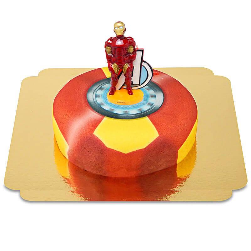 Iron Man auf Rüstung Torte