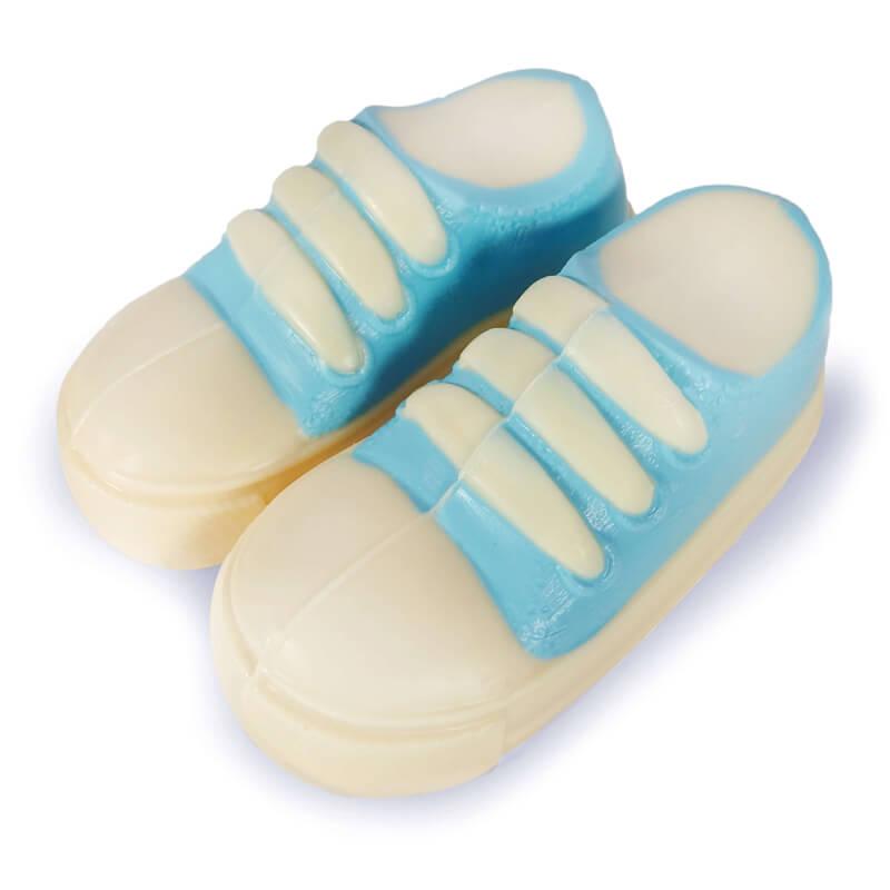 Blauer Baby Schokoladen Schuh