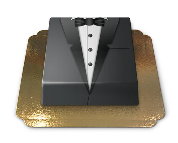 Bräutigam Torte schwarzer Smoking