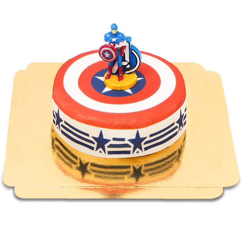 Captain America auf Stars and Stripes Torte