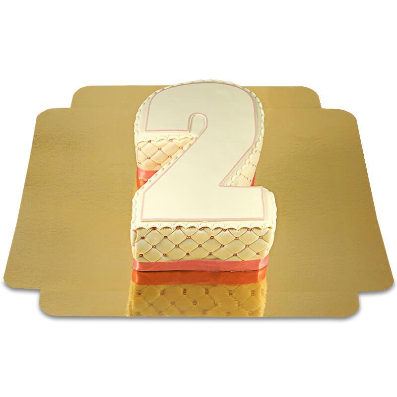 Deluxe Zahlen Torte, verschiedene Farben