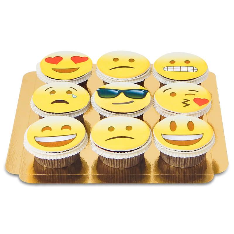 9 Emoji Cupcakes