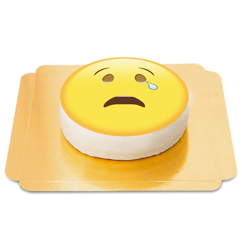 Weinendes Emoji Torte