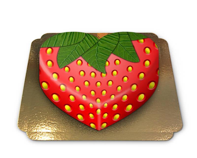 Erdbeer Torte in Herzform