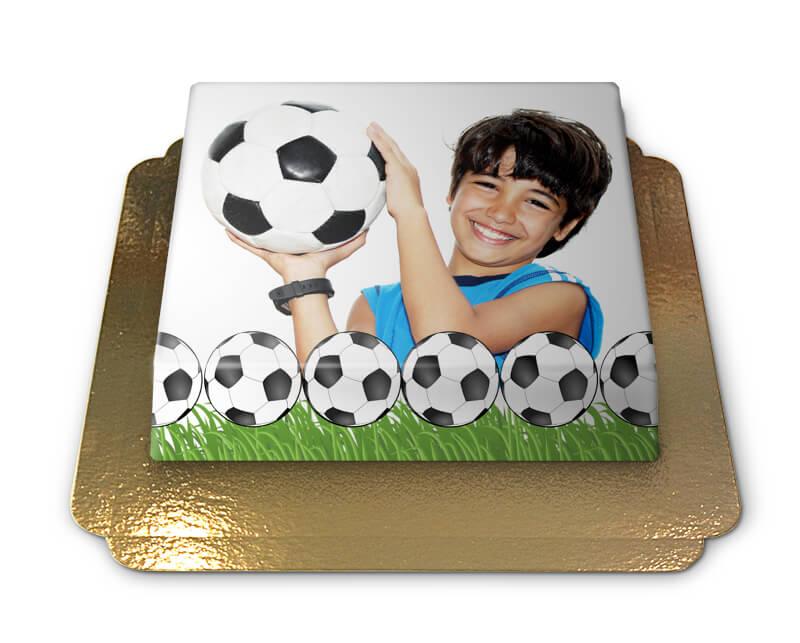 Fototorte im Fußball Design