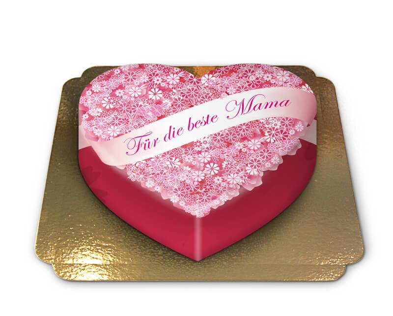 Für die beste Mama Torte in Herzform