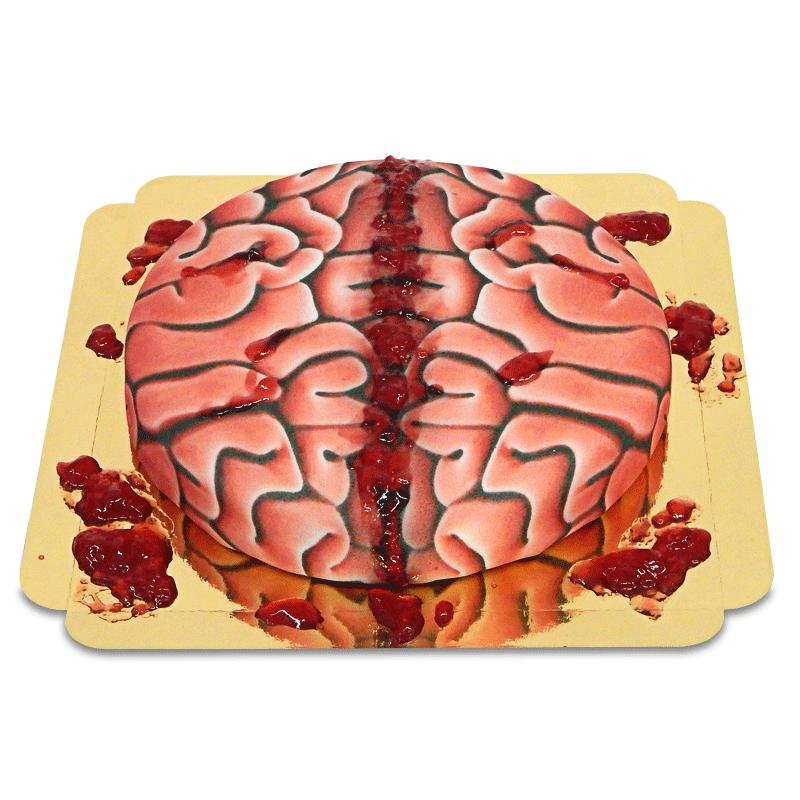 Halloween Gehirn Torte