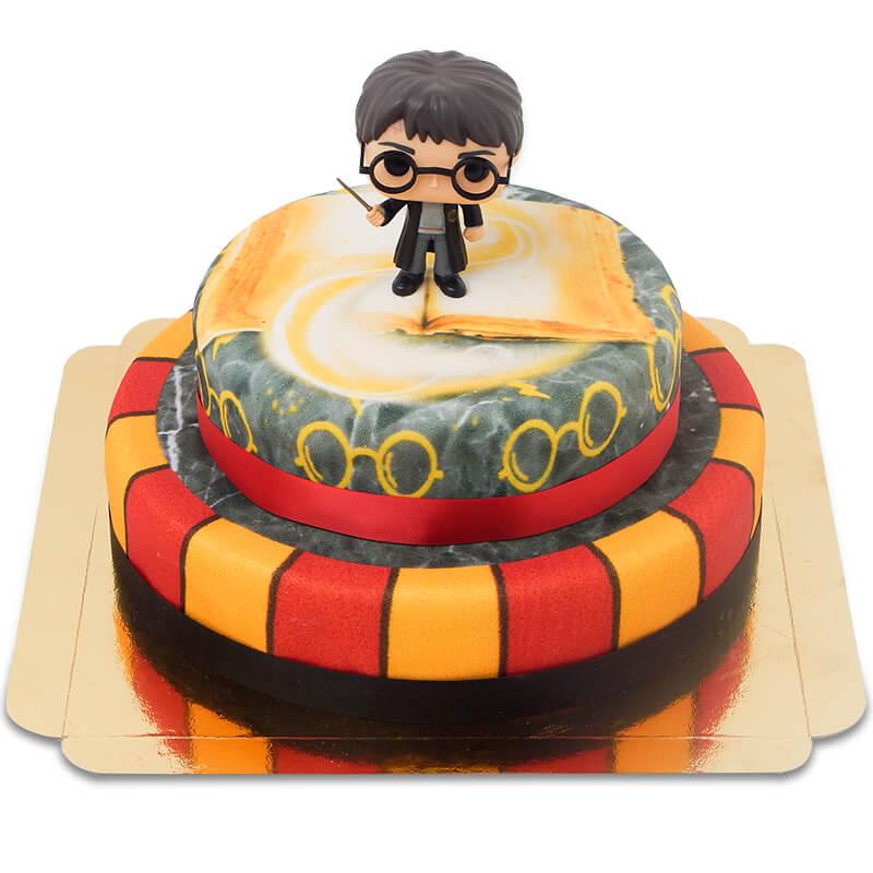 Harry Potter auf zweistöckiger Löwen Torte