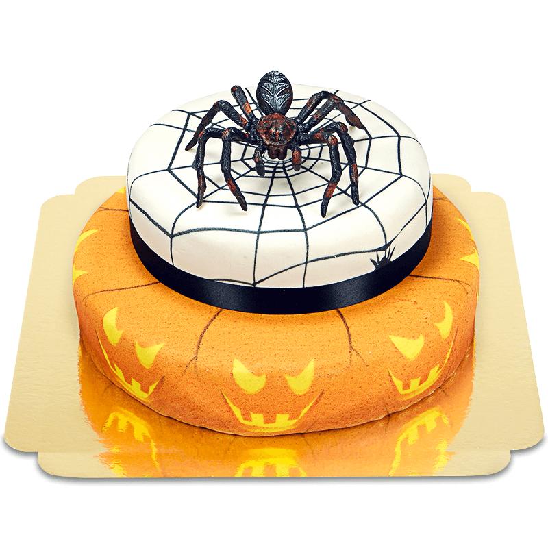 Spinne auf 2 stöckiger Halloweentorte