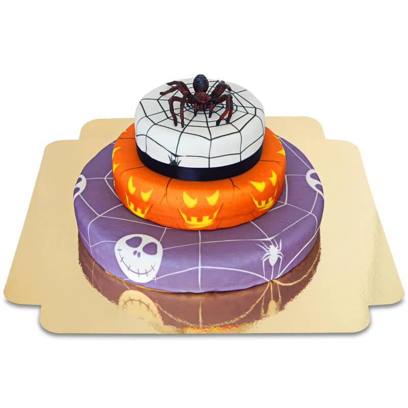 Halloween 3 Spinne auf Grusel Torte