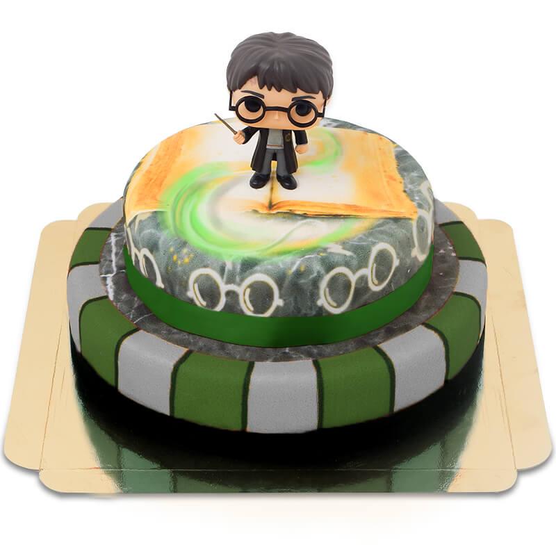 Harry Potter auf zweistöckiger Basilisken Torte