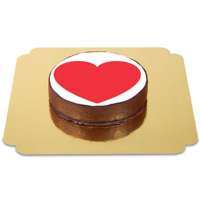 Emoticon Sachertorte Herz
