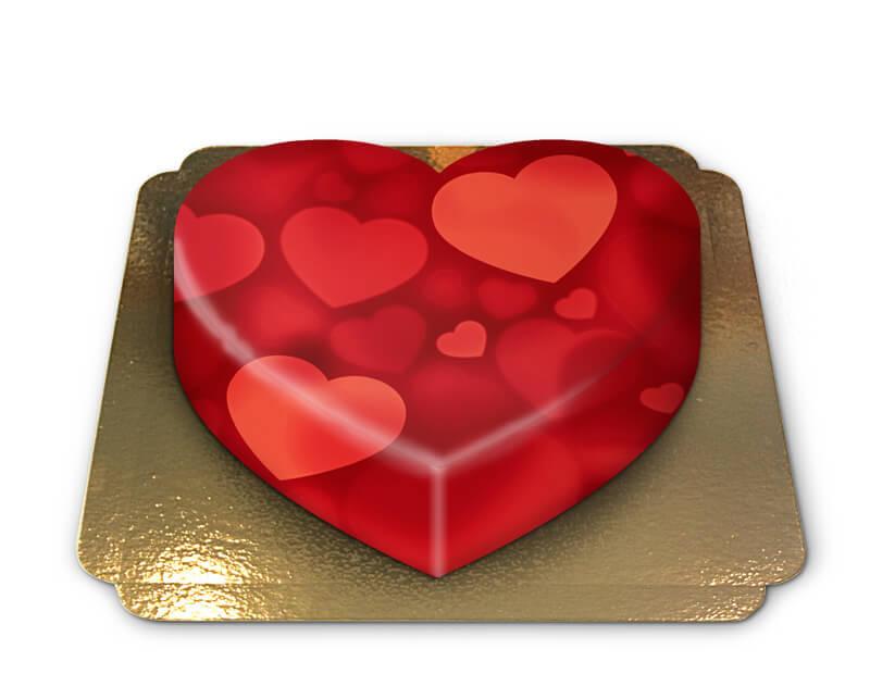 Herzen Torte in Herzform