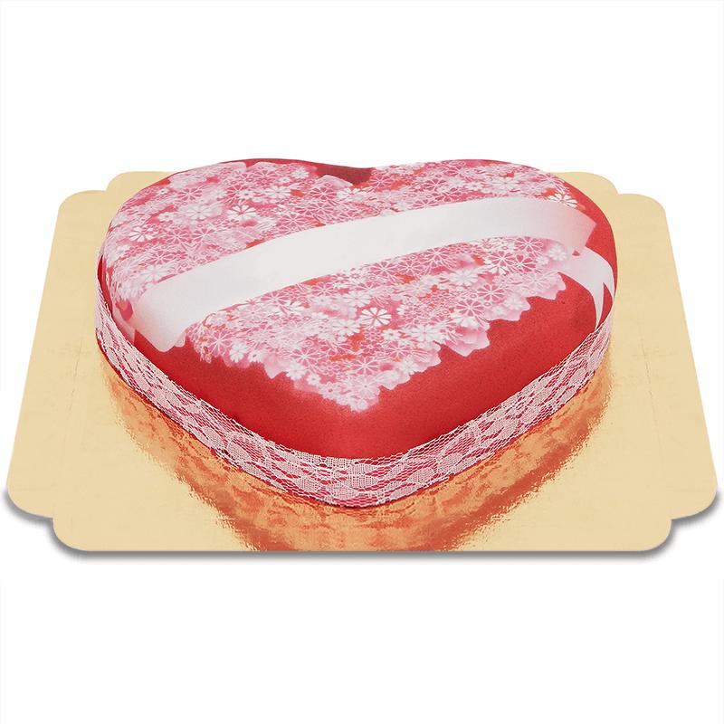 Liebesbotschafts Torte in Herzform