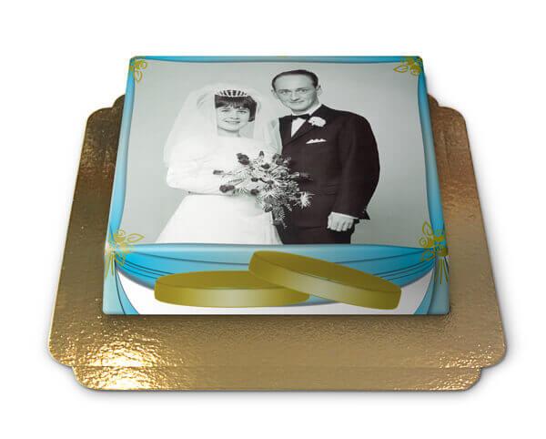 Hochzeits Fototorte