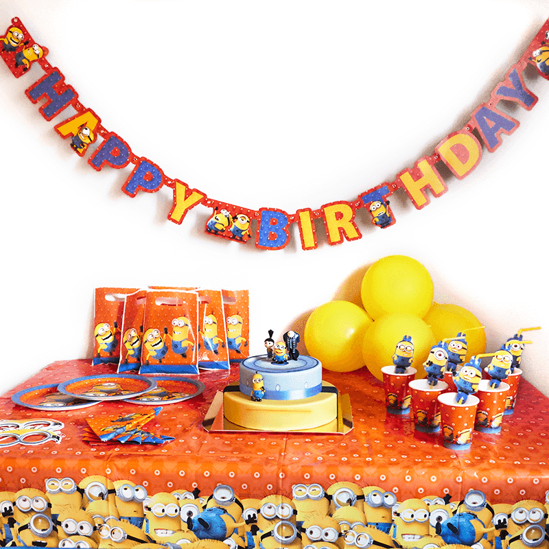 Partyset Minions inkl. Torte
