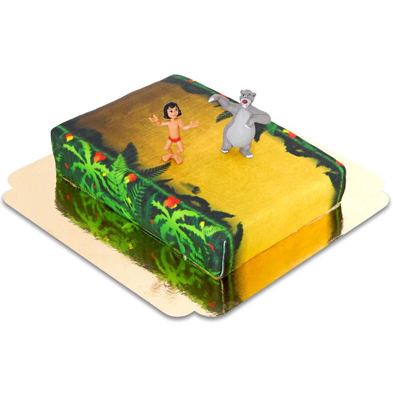 Mogli Balu auf Dschungel Torte