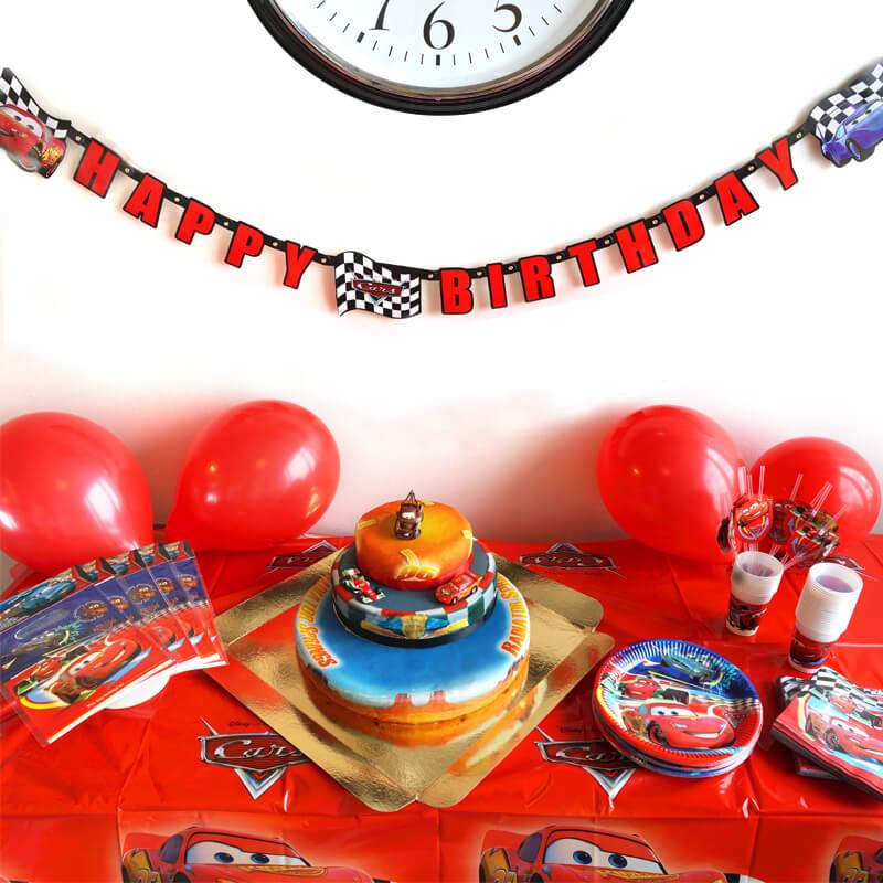 Partyset Cars inkl. Torte