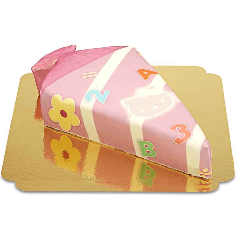 Schultüten Torte mit Katze in Pink