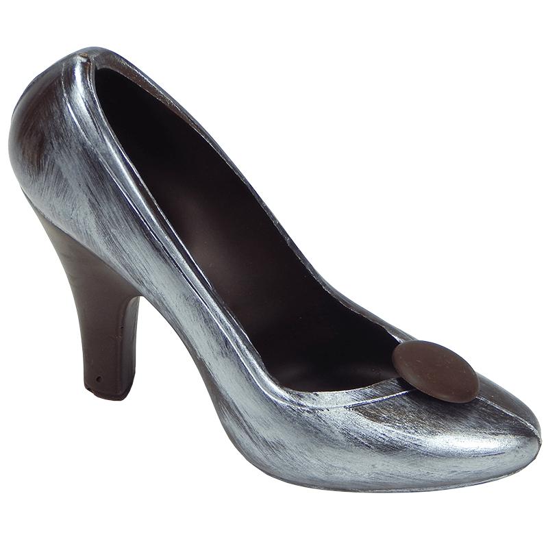 Silberner Schokoladen Schuh