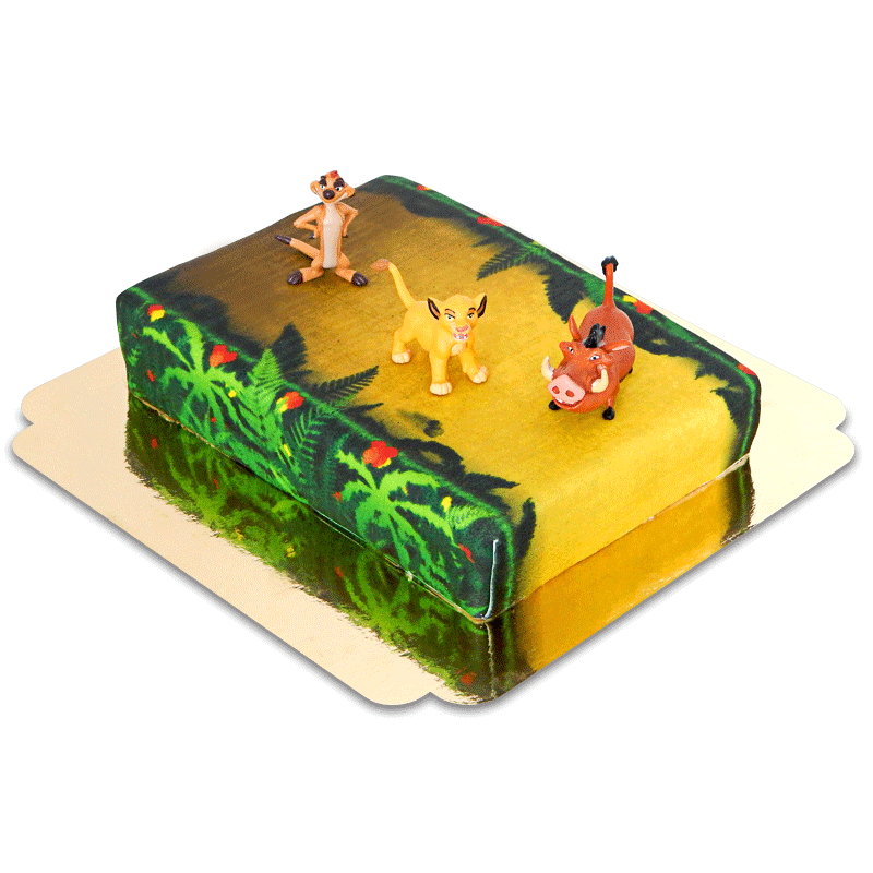 Simba, Timon Pumba auf Dschungel Torte