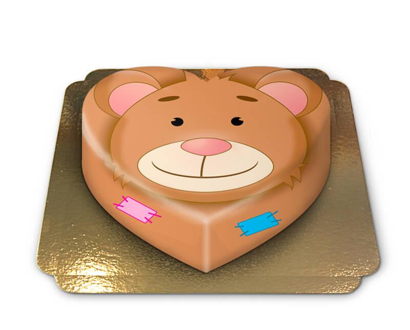 Teddybär Torte in Herzform