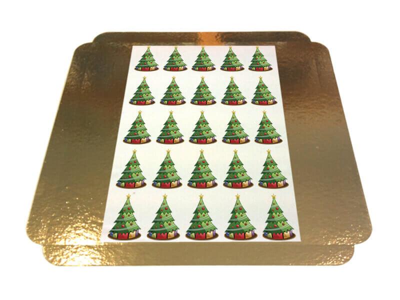 Törtchenaufleger Weihnachtsbäume 5 x 5 cm