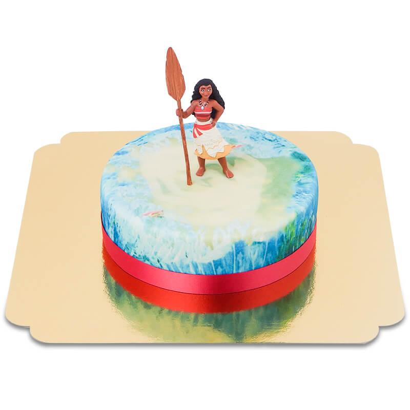 Vaiana auf Meeres Torte