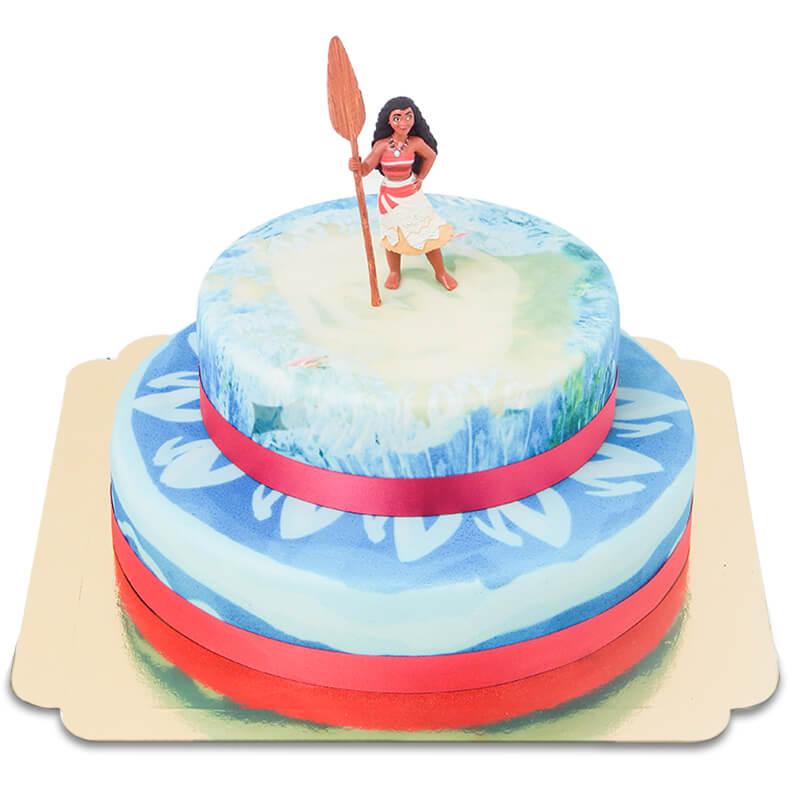 Vaiana auf zweistöckiger Ozean Torte