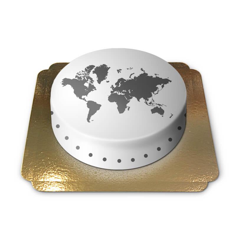 Weltkarten Torte