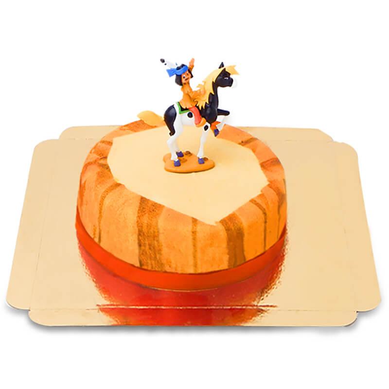 Yakari Figur auf Steppen-Torte