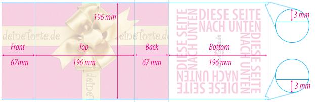 Druckvorlage, deineTorte-Verpackungs-Umschlag-Small