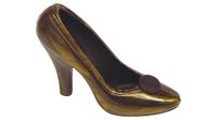 Gold-brauner Schuh