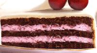 Schokoladenkuchen mit Kirschfüllung