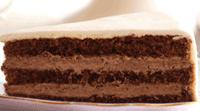Schokoladenkuchen mit Schokofudgefüllung