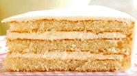 Vanillekuchen mit Zitronencremefüllung