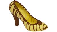 Weißer Schuh mit braunen Streifen