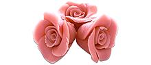 Pinke Marzipan Rosen 10 Stück