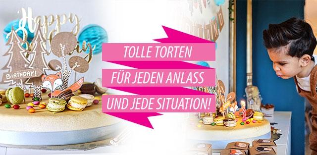 Tolle Torten für jeden Anlass und jede Situation online bestellen!