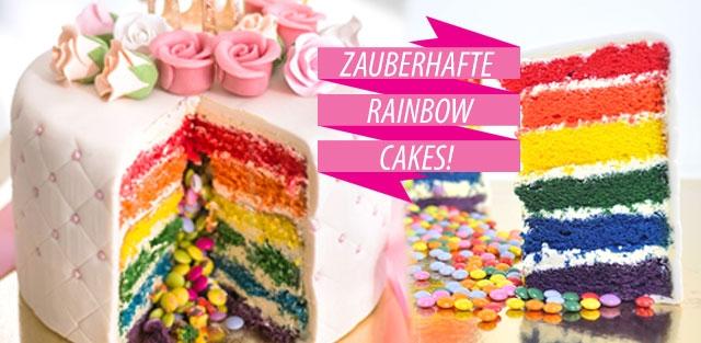 Rainbow Cakes / Regenbogen-Torten online bestellen