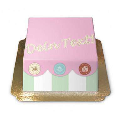 Baby Spielzeugtruhen-Torte (pink)