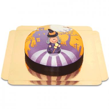 Hexe auf Gruselhaus-Torte