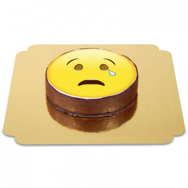 Emoticon Sachertorte Weinen