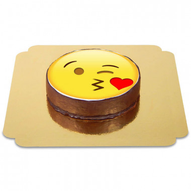 Emoticon Sachertorte Kuss