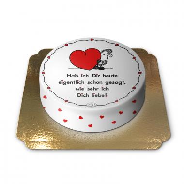 Wie sehr ich Dich liebe-Torte