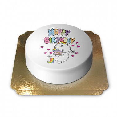 Pummeleinhorn Geburtstagstorte