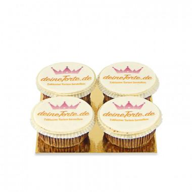 Logo-Cupcakes (4 Stück)