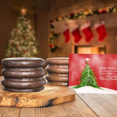 300g Baumkuchen mit Weihnachtskarte